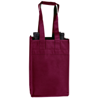 Burgundy 4 Bottle Wine Tote Thumb