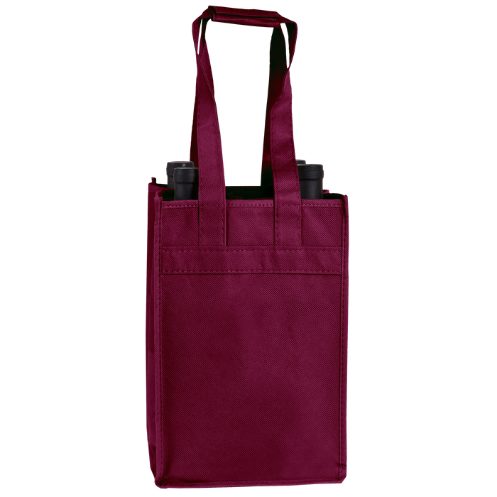 Burgundy 4 Bottle Wine Tote