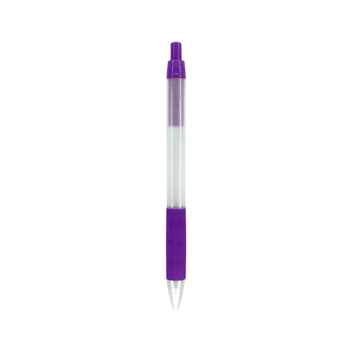 Purple with Black Ink Frosted Barrel Pen