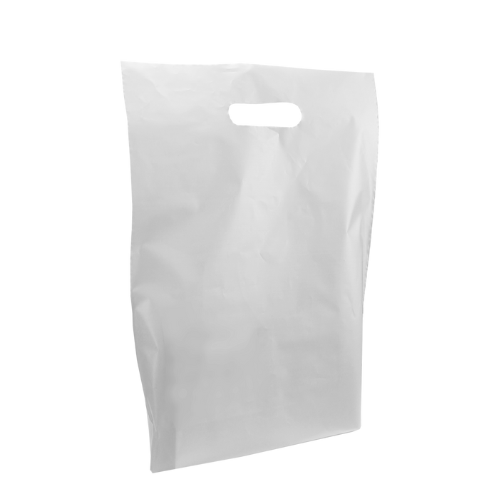 Clear Medium Frosted Die Cut Bag