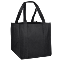 Black Cube Grocery Tote Thumb