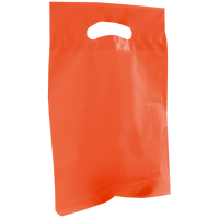 Orange Small Recyclable Die Cut Plastic Bag Thumb