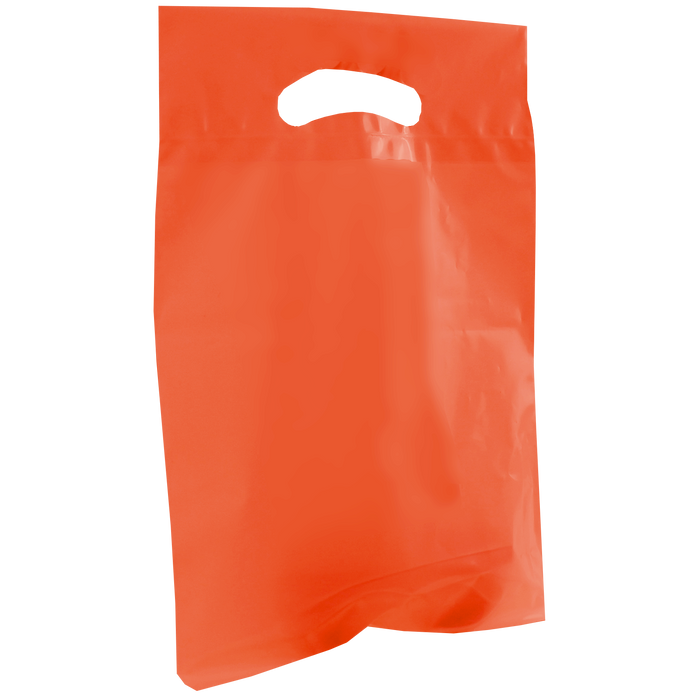Orange Small Die Cut Plastic Bag