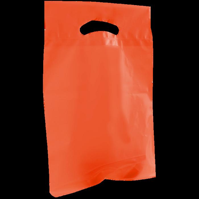 Orange Small Recyclable Die Cut Plastic Bag