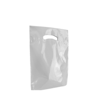 Frosted Clear Small Eco-Friendly Die Cut Plastic Bag Thumb