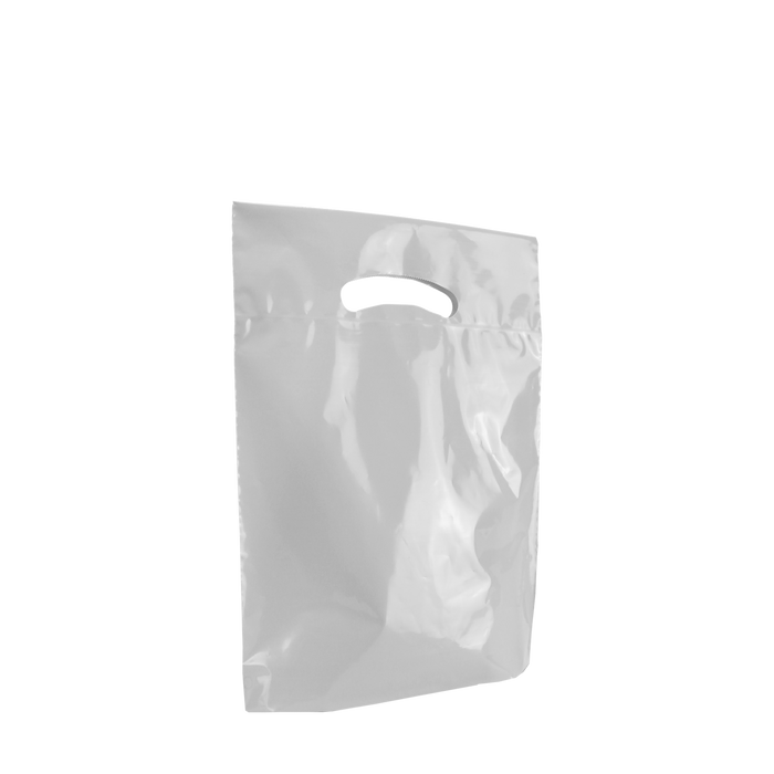 Frosted Clear Small Eco-Friendly Die Cut Plastic Bag