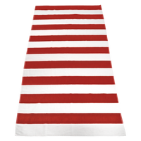 Red Santa Maria Striped Beach Towel Thumb