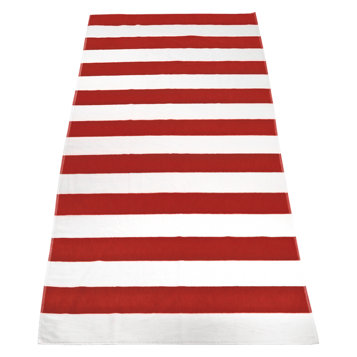 Red Santa Maria Striped Beach Towel