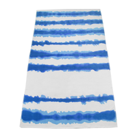 Royal Tie-Dye Striped Beach Towel Thumb