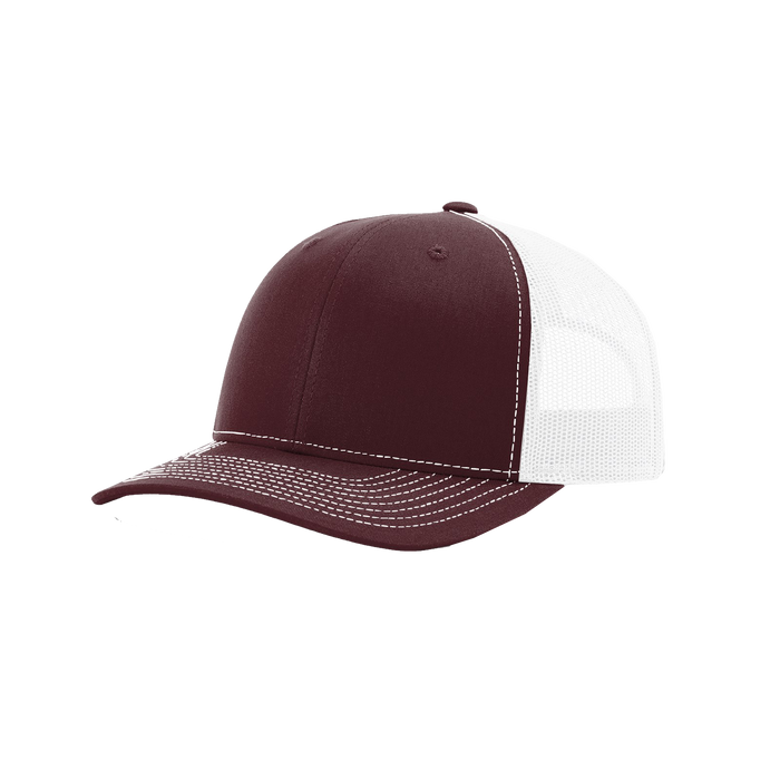 Maroon/White Richardson Trucker Snapback Hat