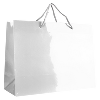 White Large Glossy Shopper Bag Thumb