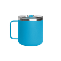 Matte Aqua Stainless Steel Insulated Camper Mug Thumb