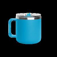 Matte Aqua Stainless Steel Insulated Camper Mug Thumb