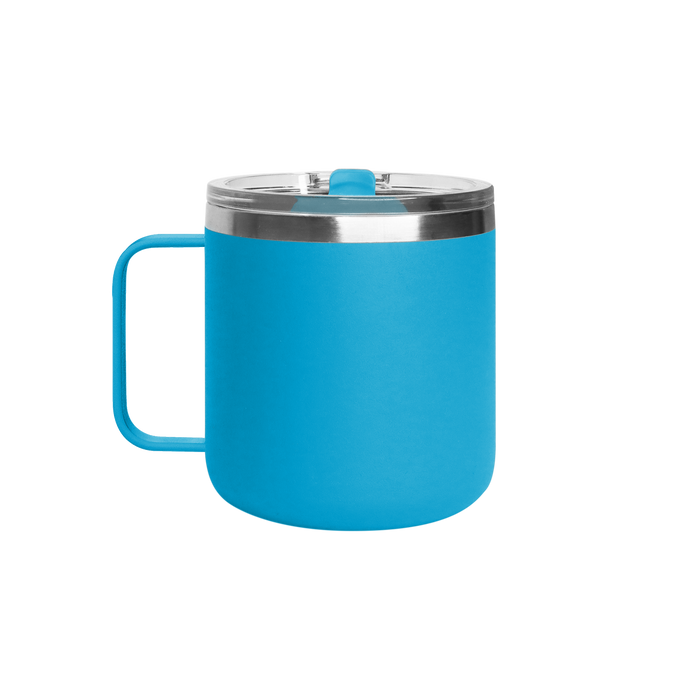 Matte Aqua Stainless Steel Insulated Camper Mug