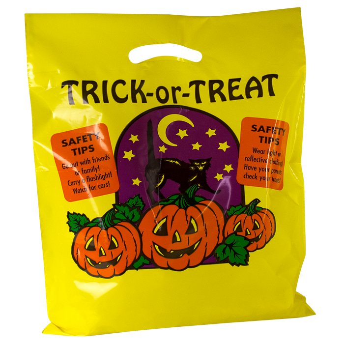 Yellow Trick-or-Treat Bag