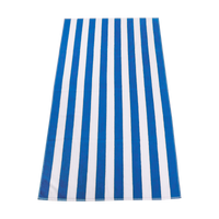 Turquoise Latitude Striped Beach Towel Thumb