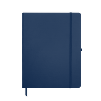 Navy Blue Large Soft Faux Leather Journal Thumb