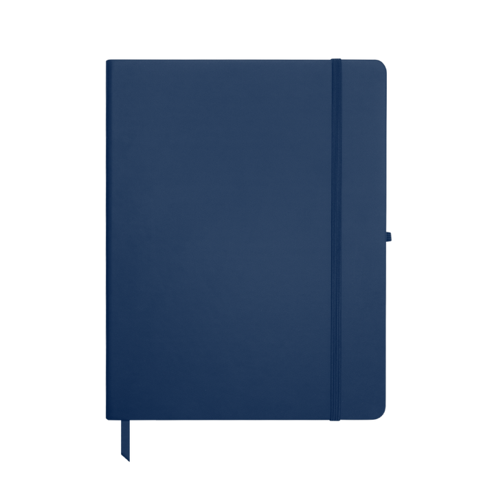 Navy Blue Large Soft Faux Leather Journal