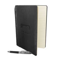 Quilted Faux Leather Journal with Pen Thumb