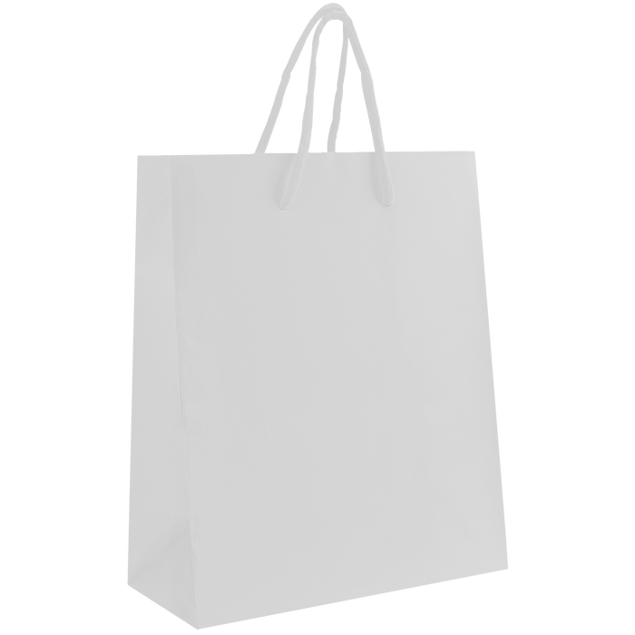 White Small Matte Shopper Bag