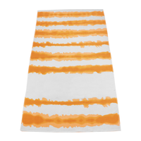 Orange Tie-Dye Striped Beach Towel Thumb