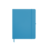 Light Blue Medium Soft Faux Leather Journal Thumb