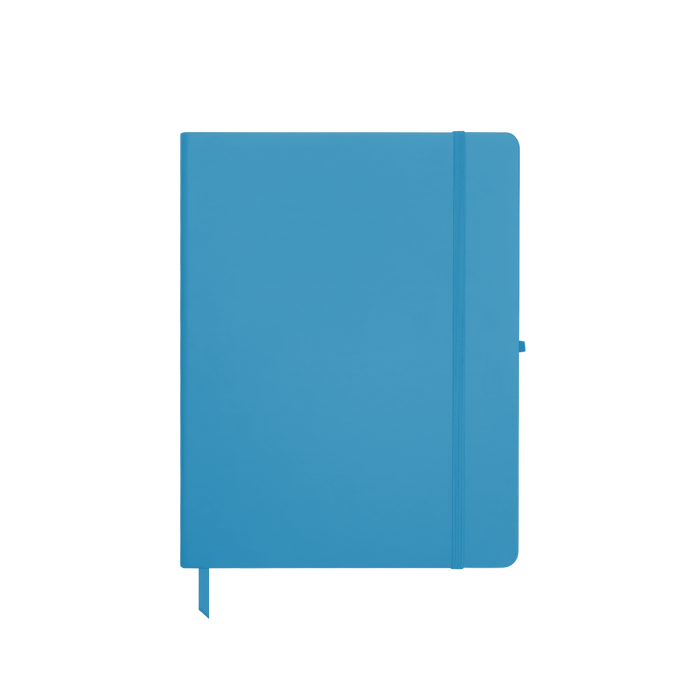 Light Blue Medium Soft Faux Leather Journal