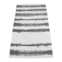 Grey Tie-Dye Striped Beach Towel Thumb