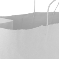 Large White Paper Shopper Bag Thumb