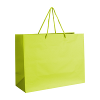 Lime Medium Matte Shopper Bag Thumb