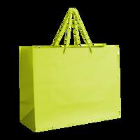 Lime Medium Matte Shopper Bag Thumb