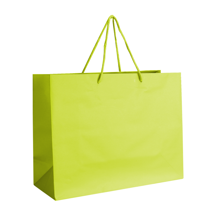 Lime Medium Matte Shopper Bag
