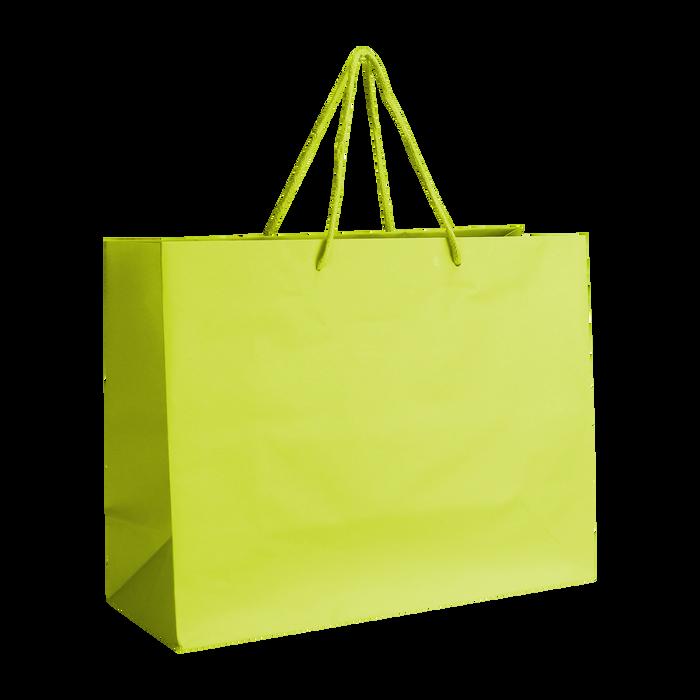 Lime Medium Matte Shopper Bag