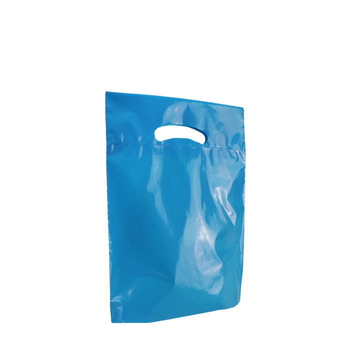 Blue Small Eco-Friendly Die Cut Plastic Bag
