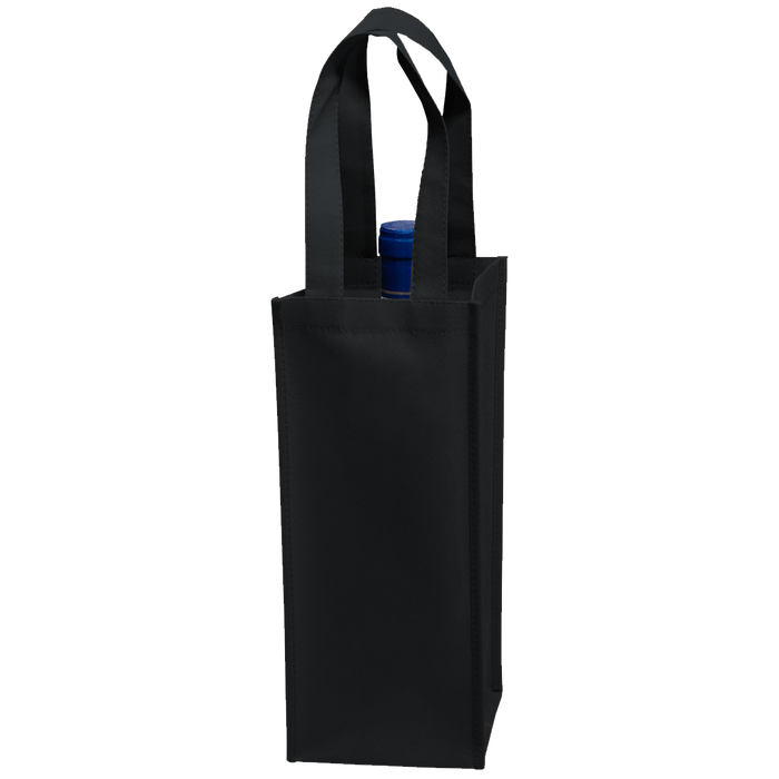 Black Single Bottle Wine Tote