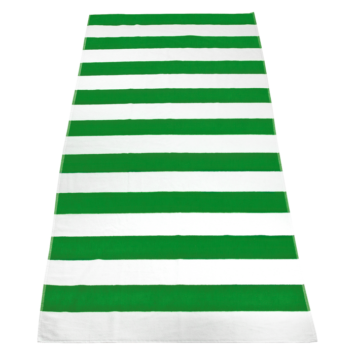 Lime Green Santa Maria Striped Beach Towel