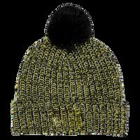 Black and Yellow Knit Knit Pom Beanie Thumb