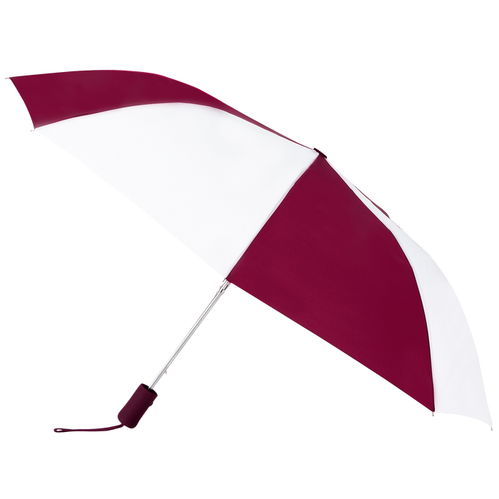 Burgundy/White Atlas Umbrella