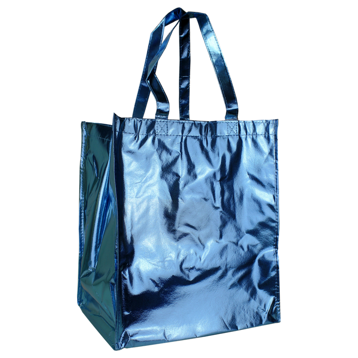 Metallic Blue	 Metallic Big Storm Grocery Bag