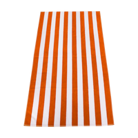 Orange Latitude Striped Beach Towel Thumb