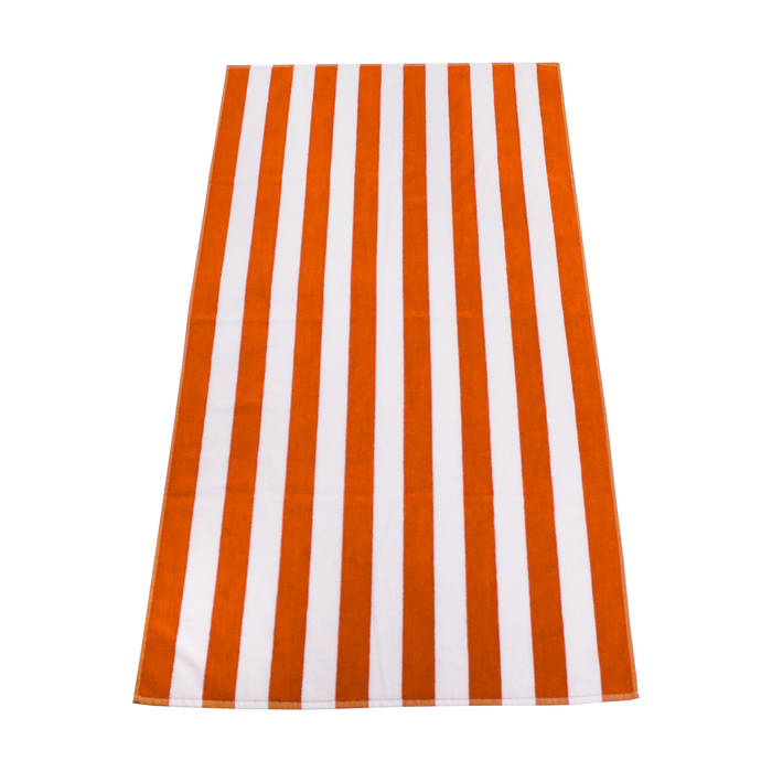 Orange Latitude Striped Beach Towel