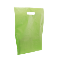 Lime Medium Frosted Die Cut Bag Thumb