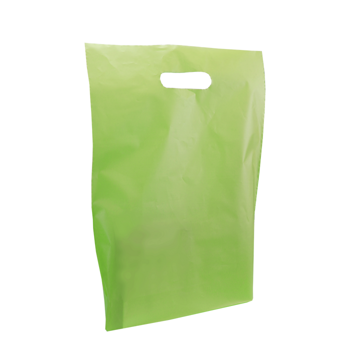 Lime Medium Frosted Die Cut Bag