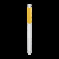 Yellow with Black Ink Antibacterial Pen Thumb