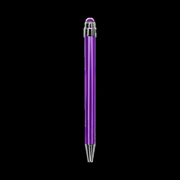 Purple with Blue Ink Chrome Stylus Pen