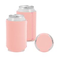 Peach Premium Collapsible Neoprene Koozie Thumb