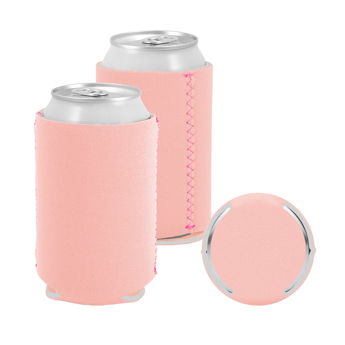 Peach Premium Collapsible Neoprene Koozie