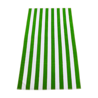 Lime Green Latitude Striped Beach Towel Thumb