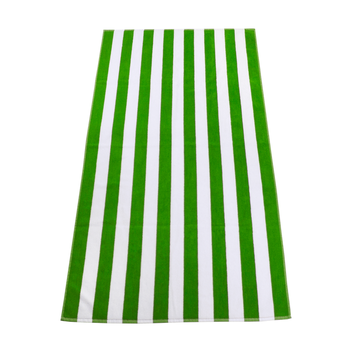 Lime Green Latitude Striped Beach Towel