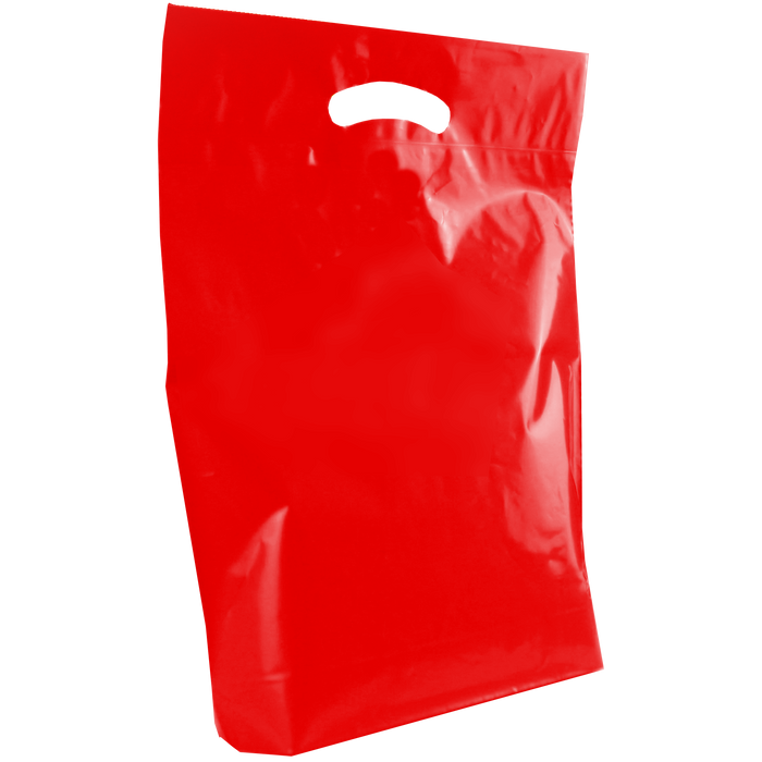Red Medium Die Cut Plastic Bag